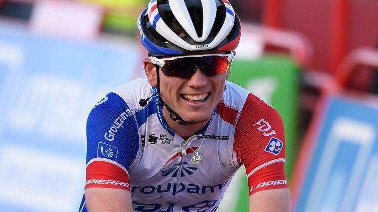 David Gaudu lors de la 17e étape du Tour d'Espagne, le 7 novembre 2020. (OSCAR DEL POZO / AFP)