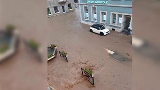 Le mardi 8 juin, des précipitations violentes se sont abattues en Alsace etdans leHaut-Rhin. (CAPTURE ECRAN FRANCE 3)