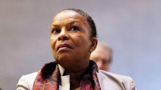 La ministre de la Justice, Christiane Taubira, à New York (États-Unis), le 10 février 2015. (JEWEL SAMAD / AFP)