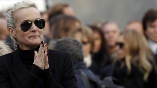 Laeticia Hallyday aux obsèques de Johnny, 09 décembre 2017  (Yoan VALAT / AFP)