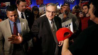 Le shérif Joe Arpaio, lors d'un meeting de Donald Trump à Phoenix (Arizona, Etats-Unis), le 31 août 2016. (ROSS D. FRANKLIN / AP / SIPA)
