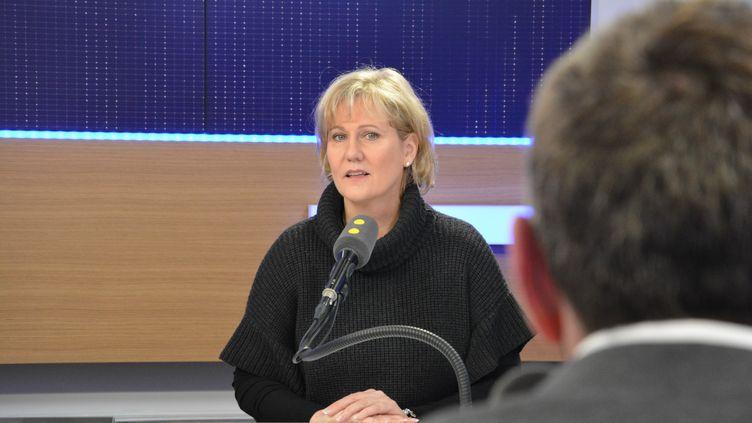 Nadine Morano,députée européenne LR, à franceinfo le3 mars 2017. (RADIO FRANCE / JEAN-CHRISTOPHE BOURDILLAT)