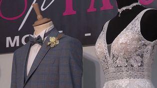 Plusieurs salons du mariage ont eu lieu en Bourgogne et dans le Grand Est durant le week-end du 16 et 17 octobre. L'affluence n'est pas la même qu'auparavant, mais les professionnels du secteur espèrent enfin pouvoir tourner la page du Covid-19. (Capture d'écran France 3)