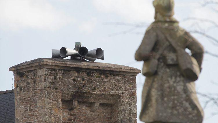 Une sirène d'alerte duréseau nationale d'alerte. (FRANCOIS DESTOC / MAXPPP)