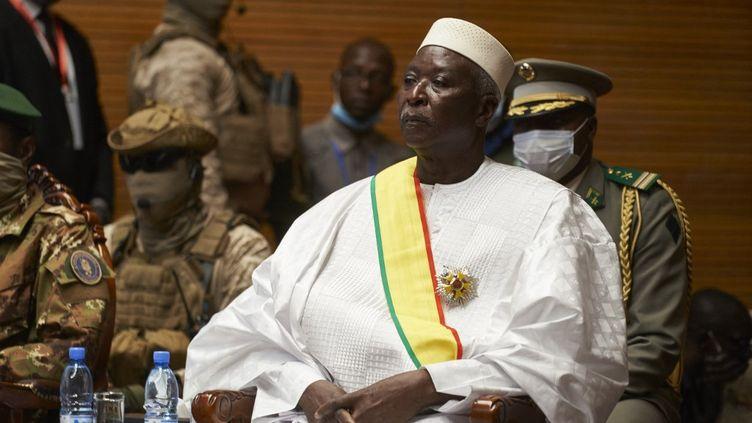 Le président de transition du Mali,Bah N'Daw, le 25 septembre 2020 à Bamako. (MICHELE CATTANI / AFP)