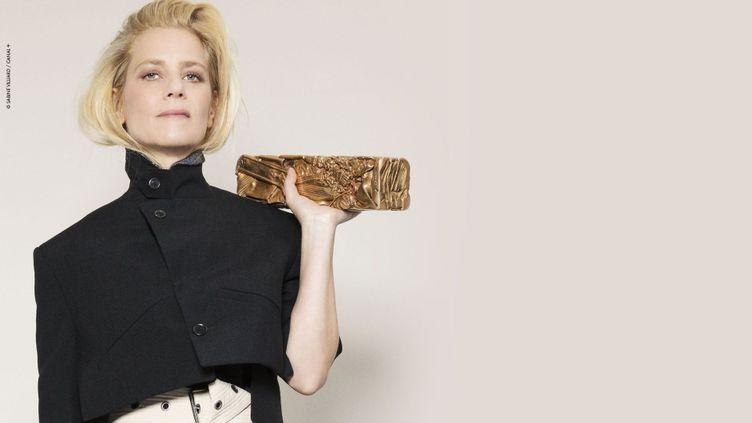 Marina Foïs, maîtresse de la 46e cérémonie des César (2021). (SABINE VILLARD / CANAL+)