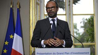 Le Premier ministre, Edouard Philippe, dévoile un programme d'investissements, le 25 septembre 2017 à Paris. (CHRISTOPHE SIMON / AFP)