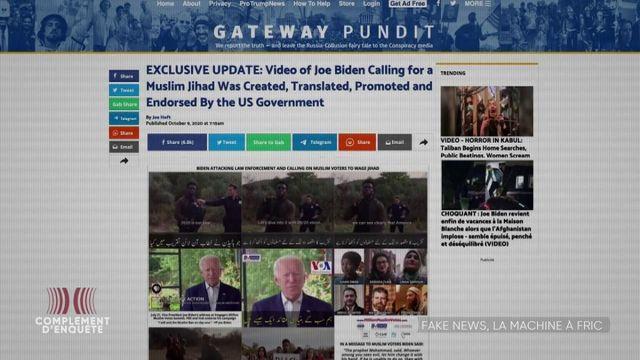 Complément d'enquête. Financement des fake news : quand les sites conspirationnistes encaissent des millions grâce à la publicité