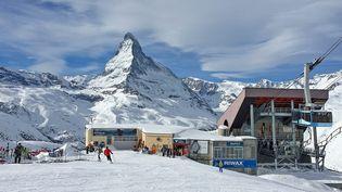 Station de Zermatt-Matterhorn, canton du Valais (Suisse) le 25 janvier 2018 (CEDRIC MERAVILLES  / MAXPPP)