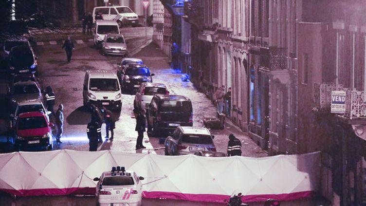 (Trois personnes tuées et treize interpellations après les attentats de Verviers en Belgique © MaxPPP)