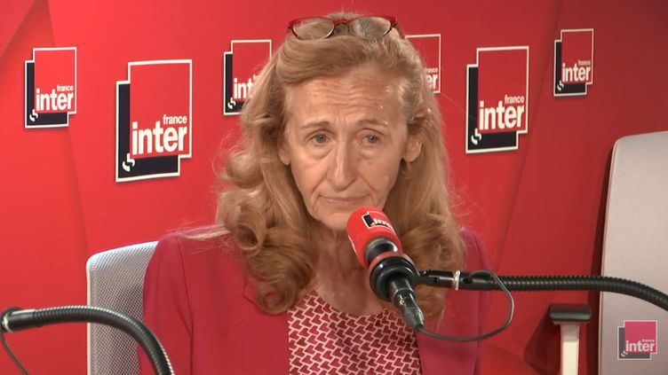 La ministre de la Justice, Nicole Belloubet, le 13 juin 2019. (RADIO FRANCE / FRANCE INTER)