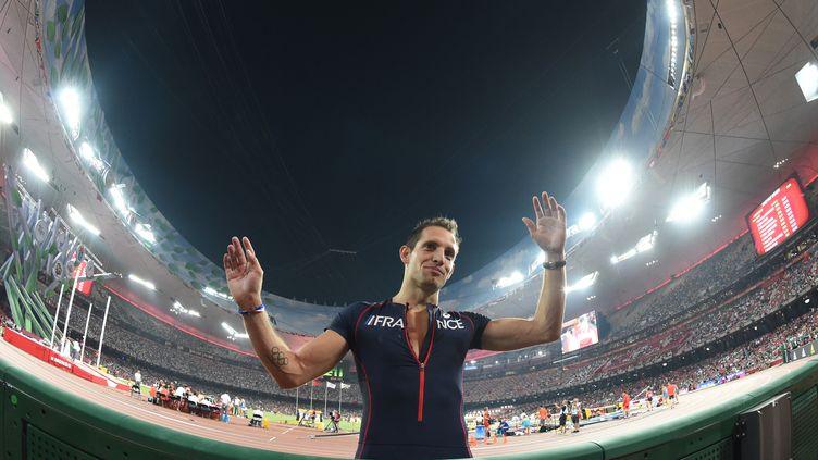 Renaud Lavillenie n'a eu à réaliser qu'un seul saut en qualification lors des Mondiaux de Pékin. (STEPHANE KEMPINAIRE / STEPHANE KEMPINAIRE)