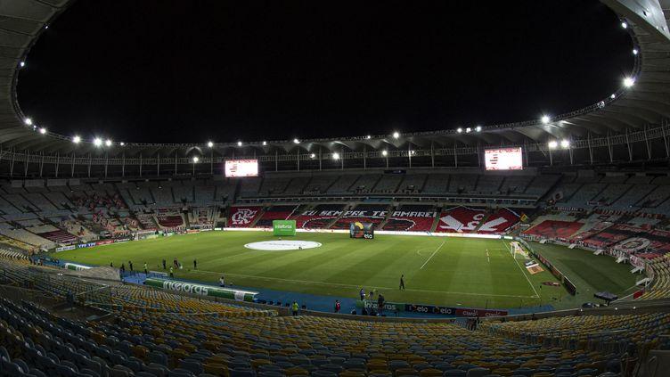 Vue d'ensemble du stade Maracanaau Brésil. (JORGE RODRIGUES / AFP)