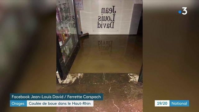 Haut-Rhin : la commune de Ferrette face à des torrents de boue après de violents orages