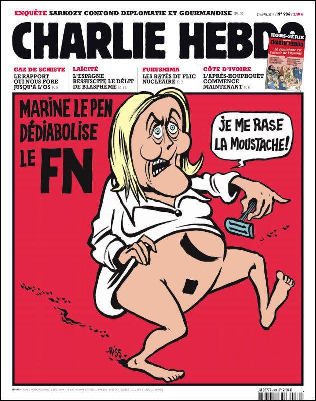"""La une de """"Charlie Hebdo"""", le27 avril 2011. (CHARLIE HEBDO)"""