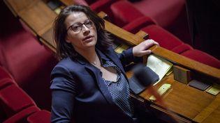 Cécile Duflot, député EE-LV lors des questions au gouvernement, le 7 avril 2015 à l'Assemblée nationale. (CITIZENSIDE / AURELIEN MORISSARD / AFP)