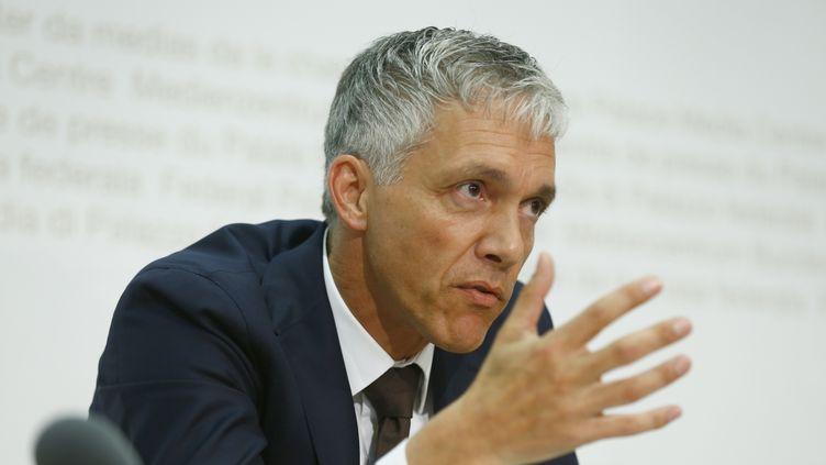 (Michael Lauber, procureur général de la Confédération helvétique à Bern lors de sa conférence de presse © RETEURS - Ruben Sprich)