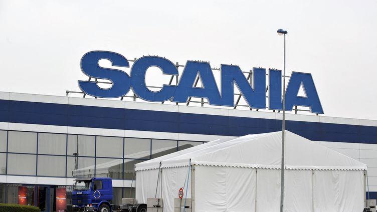 L'usine de poids-lourds Scania à Angers (Maine-et-Loire). (FRANK PERRY / AFP)