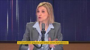 Agnès Pannier-Runacher, sur franceinfo lundi 26 avril. (FRANCEINFO / RADIOFRANCE)