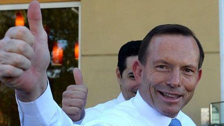 Le leader conservateur Tony Abbott à Sydneyle 19 août 2013. (Reuters - Andrew Meares - Pool)
