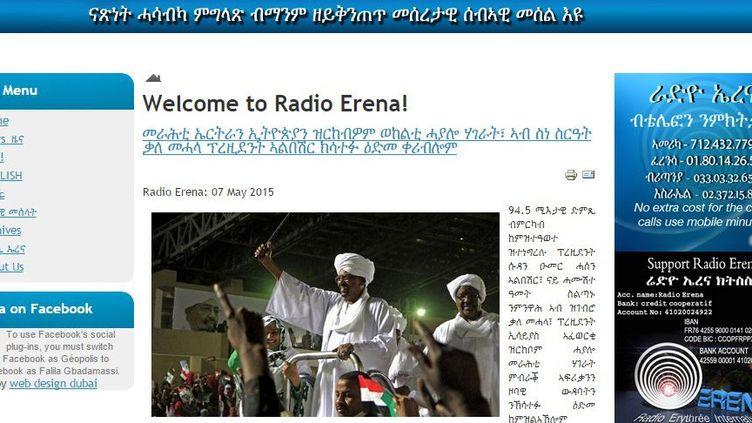 Capture d'écran du site Internet de Radio Erena (Radio Erena)