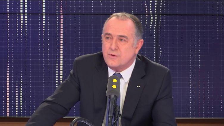 """Le ministre de l'Agriculture et de l'Alimentation, invité du """"8h30 Fauvelle-Dély"""", mercredi 30 janvier 2019. (FRANCEINFO / RADIOFRANCE)"""
