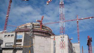 Le chantier de l'EPR d'Olkiluoto (Finlande), le 17 juin 2010. (ANNE HAUTEFEUILLE / AFP)