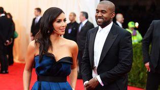 Kanye West avec Kim Kardashian  (MIKE COPPOLA)