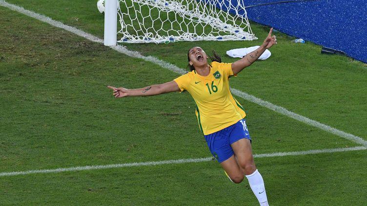 Beatriz et le Brésil qualifiés pour les quarts de finale (VANDERLEI ALMEIDA / AFP)