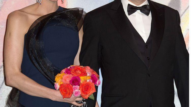 La princesse Charlène et le prince Albert II, le 29 mars 2014 à Monaco. (LE PALAIS PRINCIER / PIERRE VILLARD / SBM / SIPA)