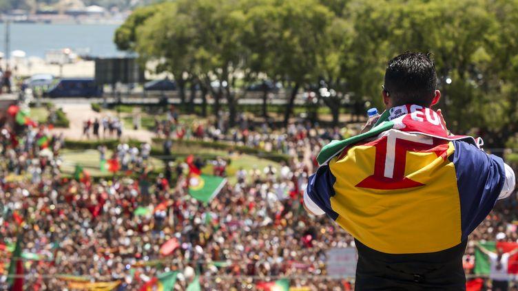CR7 devant la foule à Lisbonne