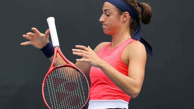 Caroline Garcia pas heureuse au tirage (DAVID GRAY / AFP)