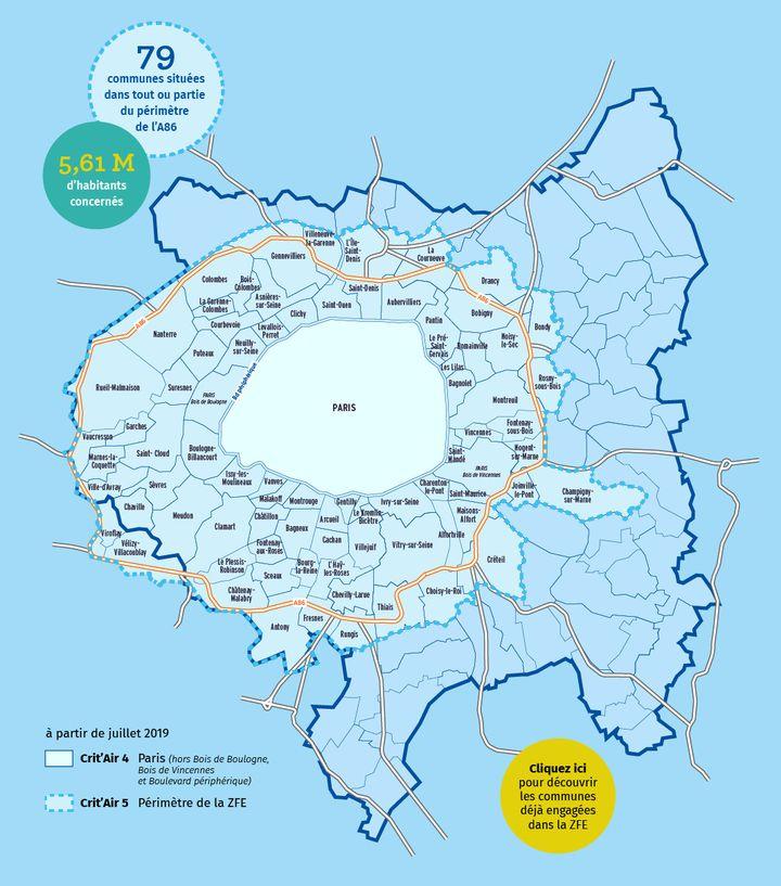 Les restrictions de circulation dans la métropole du Grand Paris. (METROPOLE DU GRAND PARIS)