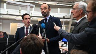 Le Premier ministre Edouard Philippe lors d'une visite à la gare de l'Est, samedi 19 octobre 2019 à Paris. (DOMINIQUE FAGET / AFP)