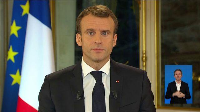 L'allocution d'Emmanuel Macron en réponse aux gilets jaunes
