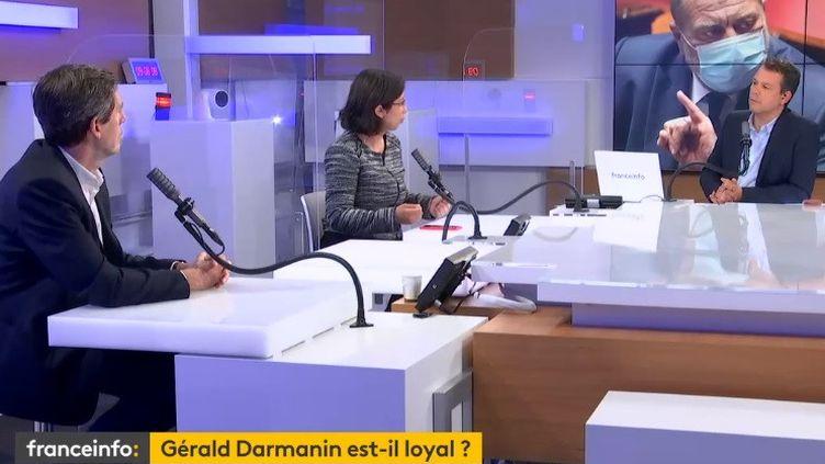 Bruno Dive, Neila Latrous et Marc Fauvelle à franceinfo le 24 juin 2021 (FRANCEINFO / RADIO FRANCE)