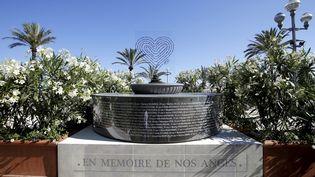 Un monument temporaire, en hommage aux victimes de l'attentat de Nice a été inauguré le 8 juin dernier.  (MAXPPP)