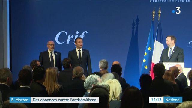 Antisémitisme : les annonces d'Emmanuel Macron