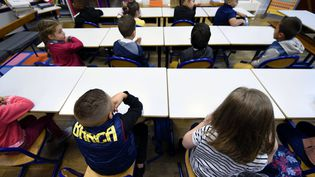 Des enfants dans une classe lors de la rentrée scolaire le 3 septembre 2018 à Nancy (Meurthe-et-Moselle). (MAXPPP)