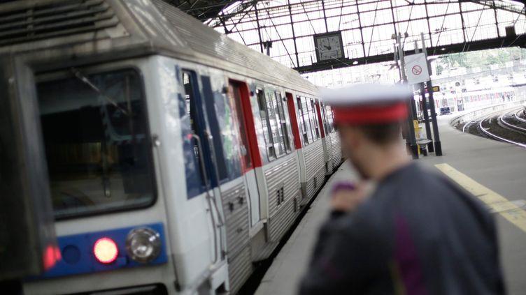 Les conducteurs de la gare Saint-Lazare ont exercé leur droit de retrait après une agression survenue le 21 janvier 2014. (MAXPPP)