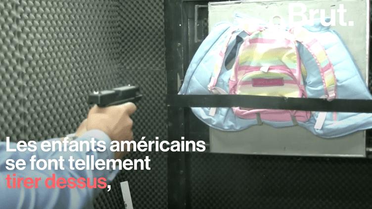 VIDEO. Aux États-Unis, des cartables pare-balles pour protéger les écoliers (BRUT)