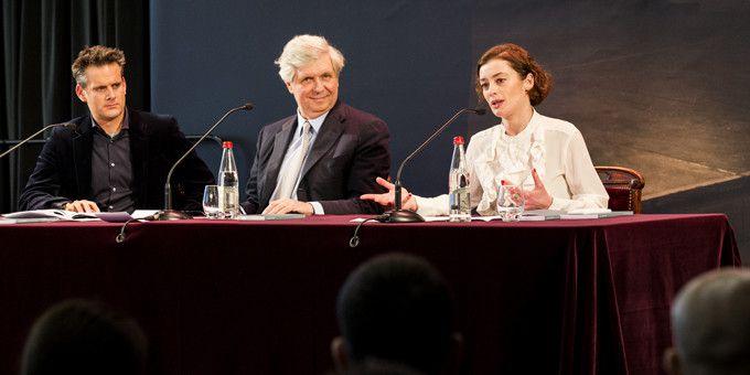 Philippe Jordan, Stéphane Lissner et Aurélie Dupont annoncent la saison de l'Opéra 2016/2017  (Anne Van Aerschot)