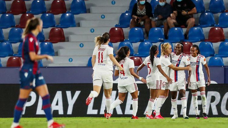 Les Lyonnaises se qualifient pour la Ligue des Champions féminine grâce à leur victoire sur Levante. (IVAN TERRON / SPAIN DPPI)
