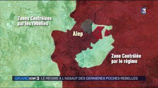 L'armée syrienne reprend du terrain aux rebelles à Alep (FRANCE 3)