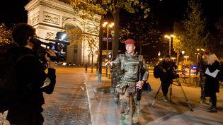 Attentat terroriste de l'Etat Islamique aux Champs-Elysées à Paris, le 21 avril 2017. (MAXPPP)
