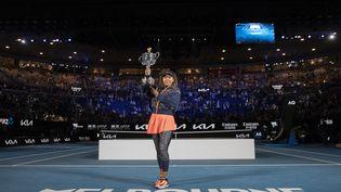 Naomi Osaka a remporté son quatrième titre du Grand Chelem, ce samedi 20 février, à Melbourne.  (FIONA HAMILTON / TENNIS AUSTRALIA)