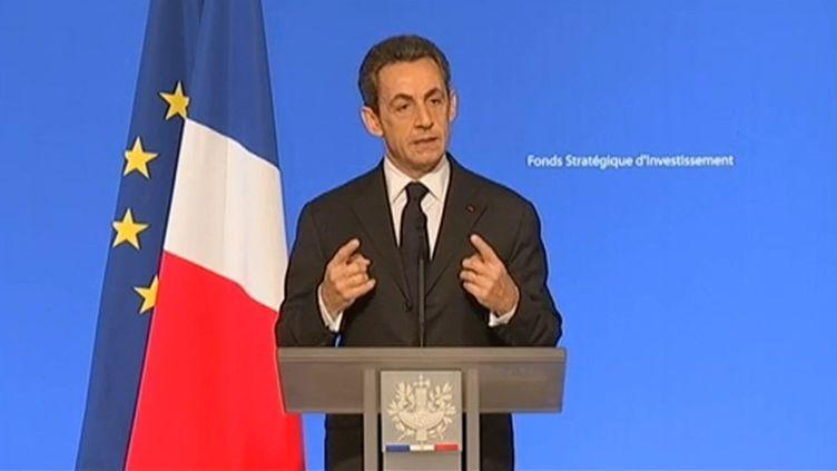 Nicolas Sarkozy, à Paris, le 17 novembre 2011. (France Télévisions)