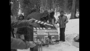 """Sur le tournage de """"Passe montagne"""" dans le Jura en 1977 (archives, France 3 Franche-Comté)"""