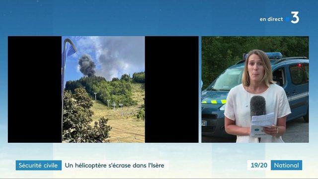 Isère : enquête ouverte après le crash d'un hélicoptère de la sécurité civile