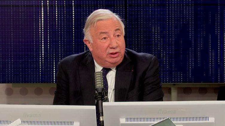 Gérard Larcher, président du Sénat, le 12 octobre 2021 sur franceinfo. (FRANCEINFO / RADIO FRANCE)